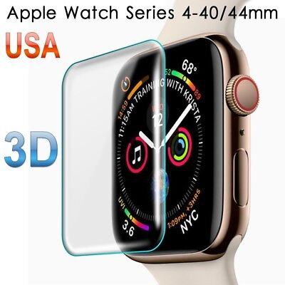 For Apple Watch Series 4 40/44MM Full Cover Tempered Glass Screen Protector / US