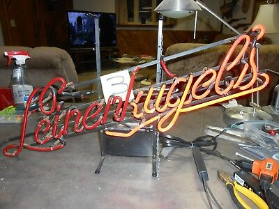 """Neon Beer Sign Parts """"Leines"""" Part ( ugels) Half of the (K) Red/Red"""