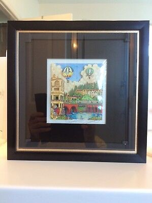 Charles Fazzino Signed Romeo Y Julieta museum limited edition 3D Giclee print.