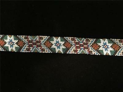 Old Native American Beadwork-Antique Glass Beaded-Hatband/Belt