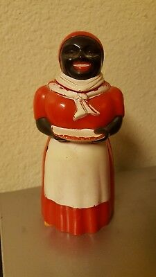 """Aunt Jemima Syrup Pitcher Hard Plastic F & F Made in USA 6"""" tall"""