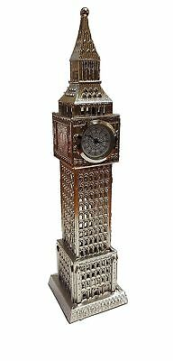 Big Ben Metal Analogue Clock - Silver Colour/Ideal for Kitchen Bedroom Living...