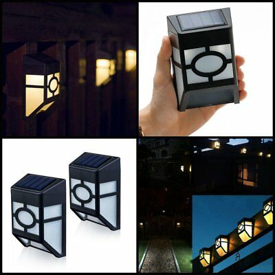 Solar Powered Wall Mount LED Light Outdoor Landscape Garden Path Fence Yard Lamp