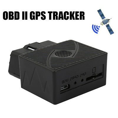 Mini OBD 2 GPS SMS GPRS Tracker Real Time Car Vehicle Tracking Device System