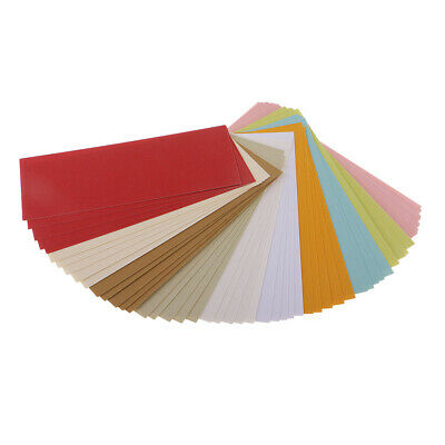 50x Pearl Shimmer Card Stock Paper Double Sided Printer Compatible 10 Colors