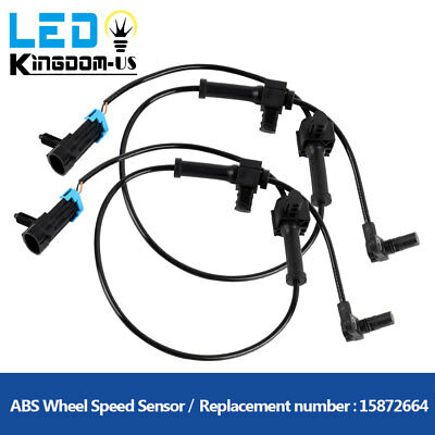 2pcs Rear Left + Right ABS Wheel Speed Sensor For Chevrolet Silverado GMC Sierra