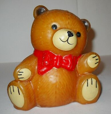 """BEAR CANDLE, 5 1/4""""x5"""" DECORATIVE W/WICK """"CANDLE COMPLIMENTS"""", STILL CUTE!"""
