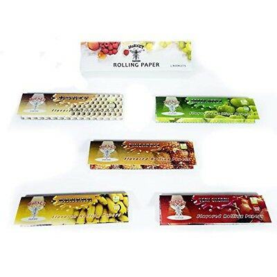 5pcs Fruit Flavored Cigarette Tobacco Smoking Hemp Rolling Papers 78*48MM Leaves