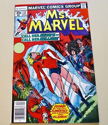 18-C1571: Ms. Marvel # 12, 1977, VF/NM 9.0! Movie out March 2019! See Promo!