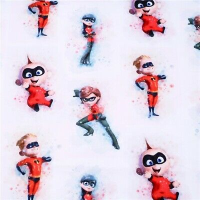 Fabric Disney Pixar The Incredibles Print Polycotton Blend 50X145Cm/20X58Inch