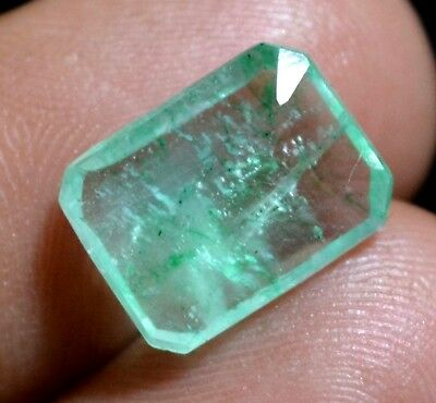 3.80 Ct Natural Green Colombian Emerald Untreated GGL Certified Earth-Mined Gems