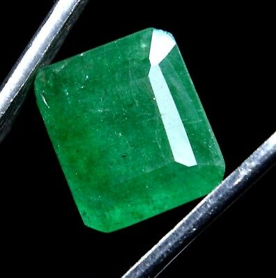 6.00 Ct Natural Green Colombian Emerald Untreated GGL Certified Earth-Mined Gems