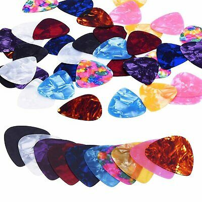 100 Guitar Picks 0.46mm 0.71mm 0.96mm Standard Plectrums Electric Acoustic Bass