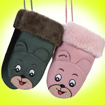 CN_ Winter Baby Suede Warm Rope Full Finger Mittens Gloves for Children Toddle
