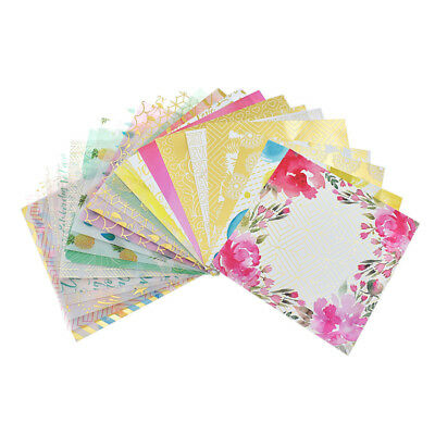 24 Sheets Scrapbooking Pads Paper Origami Art Background Paper Card Making DIY