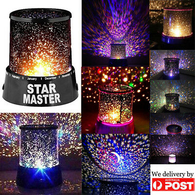 Romatic Starry Night Sky Light Baby Lamp Cosmos Moon Star Master LED Projector