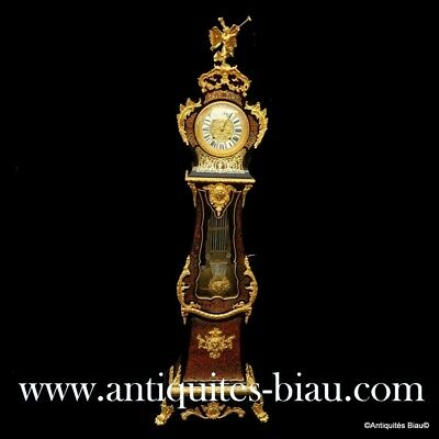 Antiques French Stamped TEXLER Impressive clock longcase in Boulle marquetry