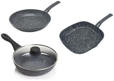 Marble Coated Aluminium Frying Pans Kitchen Non Stick Cooking Fry Pan Induction