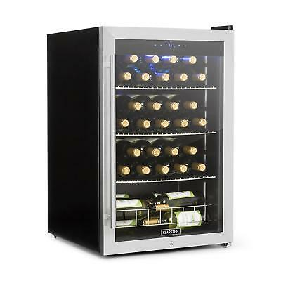 Wine cooler 48 Bottles Beverage Drinks Chiller Touch panel Blue LED Glass Bar