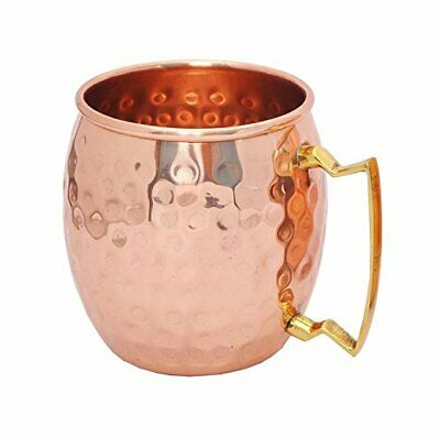Hammered Moscow Mule Mug Drinking Cup 100% Pure Solid Copper For Gift 16 Oz