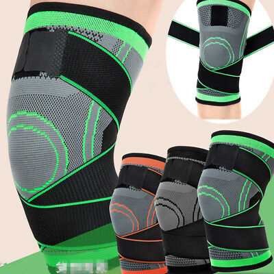 3D Weaving Knee Brace Pad Support Protect Compression Running Jogging Sport NEW
