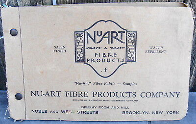 Nu-Art Fibre Products Brooklyn New York Vintage Fabric Sample Catalog
