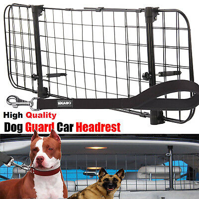 Universal Car Headrest Guard Grill Pet Dog Safety Adjustable Barrier Leash Lead