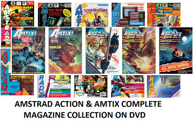 Amstrad Action + AMTIX Magazine Collection on DVD - PDF Format All Issues (CPC)