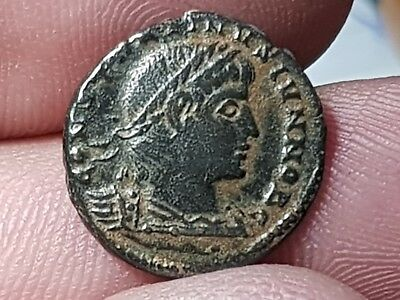 Fantastic Ancient Roman Bronze Ae Coin 1,8 Gr.16 Mm