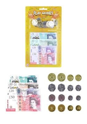 Childrens Pretend Play Monday Kids Toy Fake ££ Cash Notes Coins For Learning