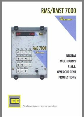 Procom RMS 7000 Relay Digital Multicurve Phase Earth Overcurrent Protection NEW