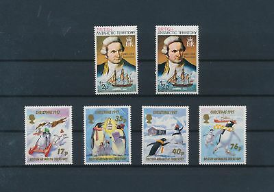 LJ28741 British Antarctic Territory penguins James Cook ships fine lot MNH