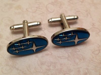 Subaru Cufflinks Silver In Box Collectable Bnib Cuff Links Sti Impreza Legacy 1