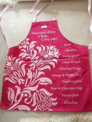 Aprons With Cake Baking Detail Thick Washable Cotton New In Packs Special Offer