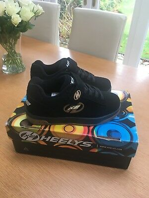New Heelys Dual x 2 Trainers, Black, Size 2