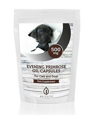 Evening Primrose Oil 500mg for Cats and Dogs Pets 7-30-60-90-120-180-250 Capsule