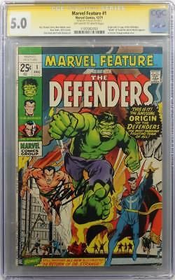 Marvel Feature #1 CGC 5.0 SS Signed by Stan Lee - 1st appearance of Defenders