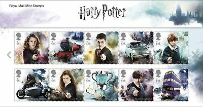 2018 Harry Potter Stamps Presentation Packs With Mini Sheet