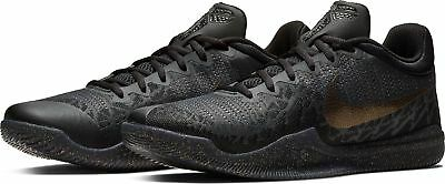 NIKE MAMBA RAGE Kobe Noir Gris or Triple Basketball Hommes 2018 All ... ca3081723