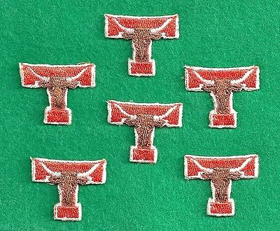 "APPLIQUE Texas Long Horns 100% Embroidered,  Profiled, Iron On app. 1"" x 1 1/4"""