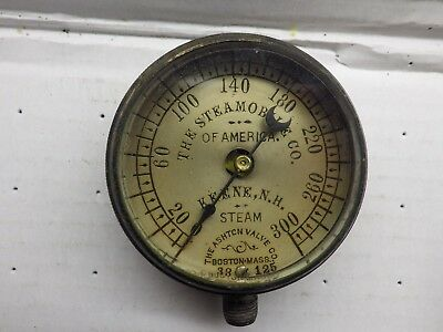 Steam Vehicle Dashboard Gauge Steamobile Ashton Valve Co AS IS  J1298