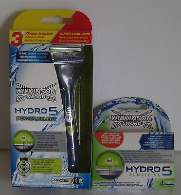 Wilkinson Sword Hydro 5 Power Select 3Klingen Inkl. plus 4 Klingen Neu & OVP