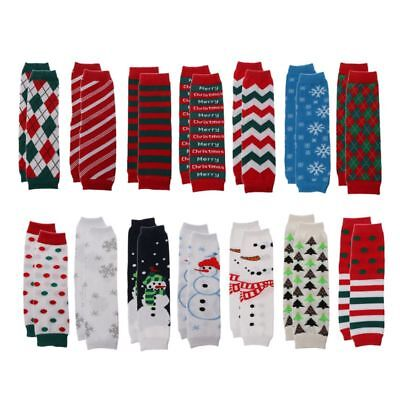 Leg Warmers Girl Boy Cotton Stripe Wave Point Baby Crawling Socks Christmas Gift