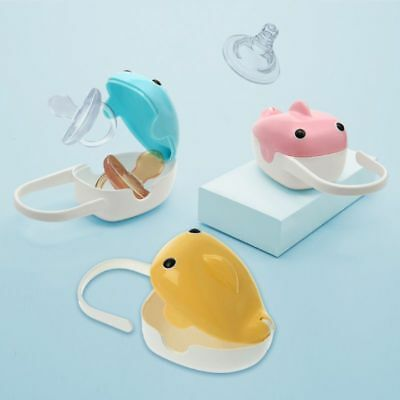 Cute Whale Baby Pacifier Nipple Cradle Case Holder Travel Storage Box Portable