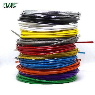 Flare™ Skipping Speed Jump Rope Replacement Cables Various Colours 3M Long UK
