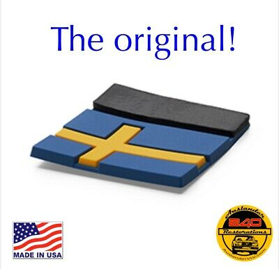 New Rubber Sweden Swedish Flag Tag Emblem Decal Sticker as found on Volvo XC40