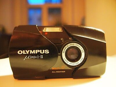 Olympus Mju II 35mm Multi AF All Weather (schwarz) Kompaktkamera
