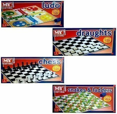 Set Of Four M.Y. Traditional Family Board Games