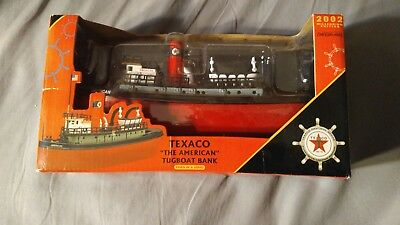 "Ertl Texaco ""The American"" Tugboat Die-Cast Metal Bank"