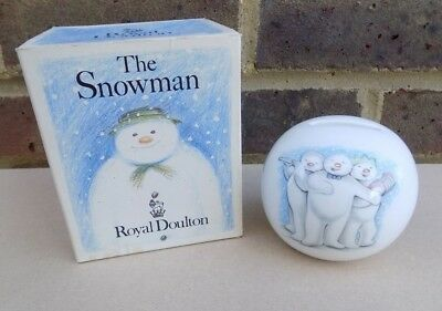ROYAL DOULTON The Snowman Snowball Money Box